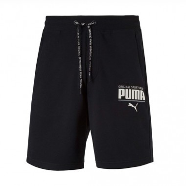 PUMA STYLE Athletic Sweat Shorts Black