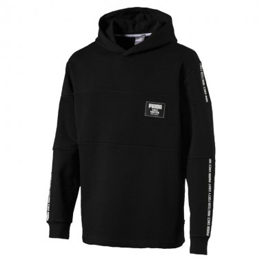 Rebel Block Hoody FL Black