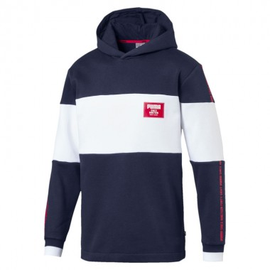 Rebel Block Hoody FL Navy/White
