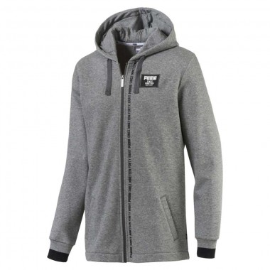 Rebel Block FZ Hoody Grey FL