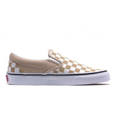 "CLASSIC SLIP-ON ""CHECKERBOARD"" (CREAM)"
