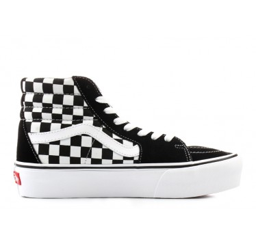 VANS Sk8-Hi Black/White CHECKERBOARD