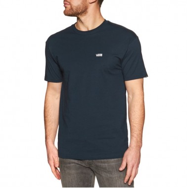 VANS Left Chest Logo T-Shirt In Navy