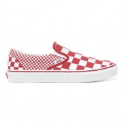 MIX CHECKER SLIP-ON SHOES