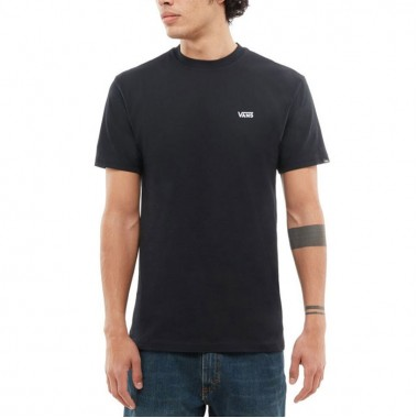 VANS Left Chest Logo T-Shirt In BLACK
