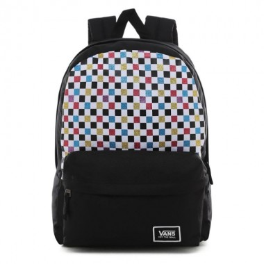 GLITTER CHECK REALM BACKPACK