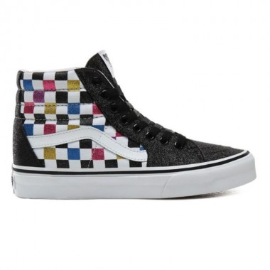 GLITTER CHECKERBOARD SK8-HI SHOES