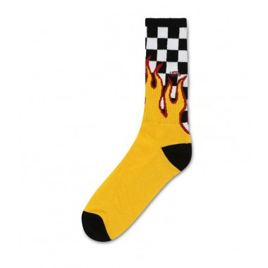 Vans Flame Check Crew Socks (Size 9.5 - 13)