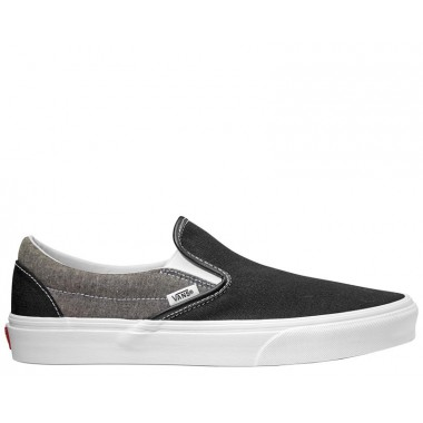 CLASSIC VANS SLIP-ON SHOES Black Chambray