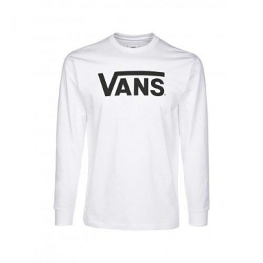Vans Classic Logo Long Sleeve T-Shirt White