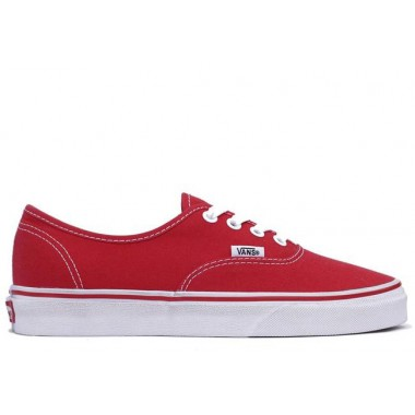 Vans Authentic Canvas Low Top Red