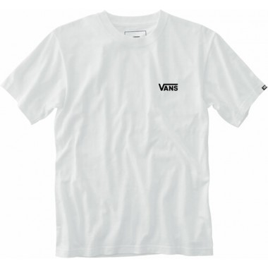 Vans Men Left Chest Logo Tee White