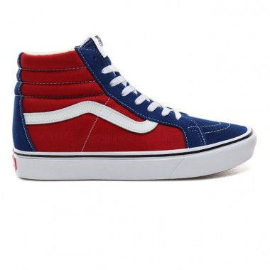 TWO-TONE COMFYCUSH SK8-HI REISSUE SHOES True Blue/Chili pepper